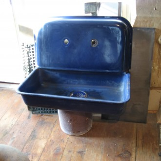 Cobalt blue kitchen sink