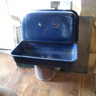 Cobalt blue kitchen sink