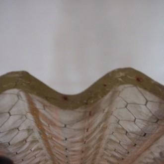 corrugated chicken wire glass