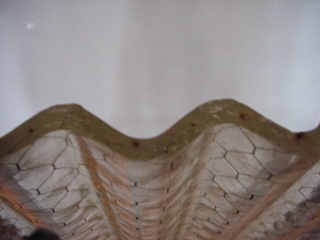 corrugated chicken wire glass Image