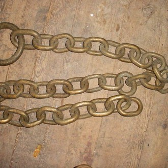 7′ Heavy brass chain