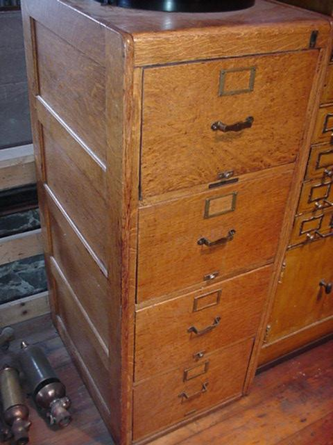 Oak file cabinet Image