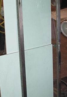 Nickel Plated Shower Door