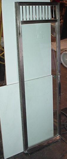 Nickel Plated Shower Door Image