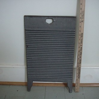 Iron washboard with heart