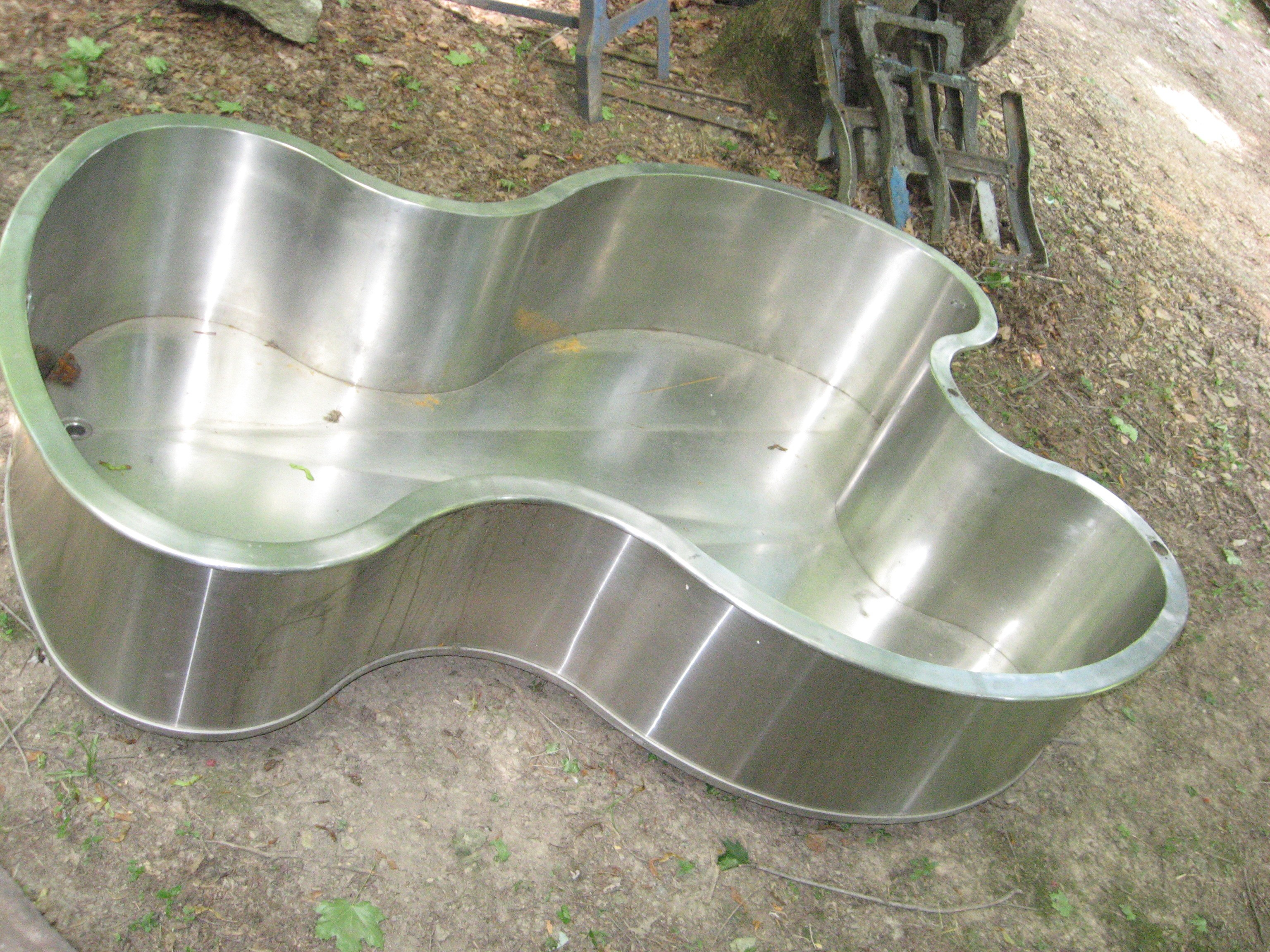 Hydrotherapy tub stainless steel found objects of industry for Koi pond jets