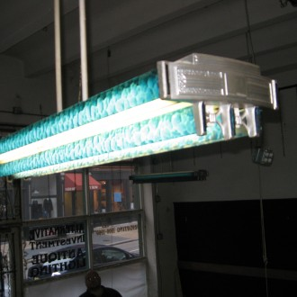 6 Art deco flourescent lights