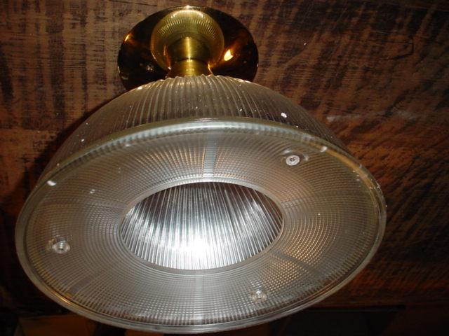 Brass base Holophane Image