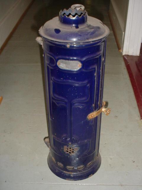 Cobolt blue water heater Image