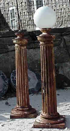 Iron post lights Image